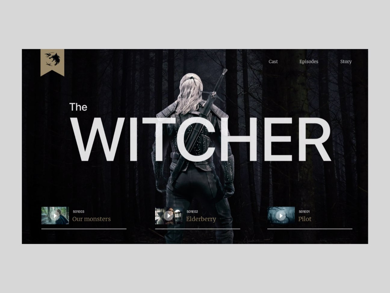 The Witcher – Web Concept